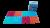 """Детские массажные (ортопедические) модульные коврики 8шт """"ОРТО ПАЗЛ Микс Море"""""""