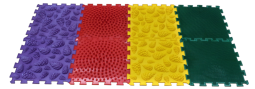 Детские массажные (ортопедические) модульные коврики «ОРТО ПАЗЛ» (Микс Лес)