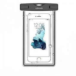 Водонепроницаемый чехол для смартфона Usams Waterproof bag (Черный)
