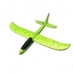 Самолет-планер из пенопласта метательный (большой) зеленый