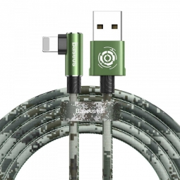 Кабель Baseus Camouflage Mobile Game Cable USB - Lightning 2,4A 1м зеленый (CALMC-A06)