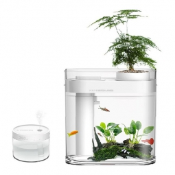 Акваферма Xiaomi Descriptive geometry amphibious ecological lazy fish tank с функцией выращивания растений