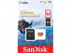 Карта памяти SanDisk Extreme microSDXC 64GB Class 10 UHS-I U3 (100MB/s) c адаптером
