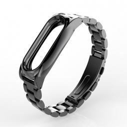 Стальной браслет для Xiaomi Mi Band 2 (черный)