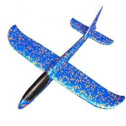 Самолет-планер из пенопласта метательный (большой) синий