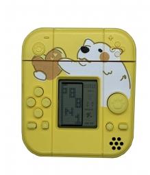 Защитный чехол SHANHI для Apple AirPods 1/2 с играми (желтый)