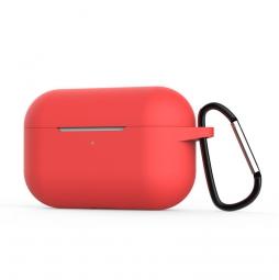 Силиконовый кейс с карабином для AirPods Pro Red (красный)