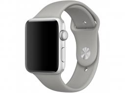 Силиконовый ремешок для Apple Watch 44/42 mm, серый