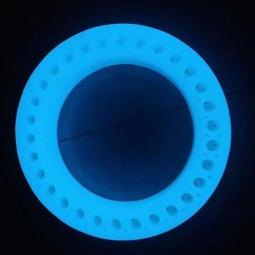 Литая светящаяся флуоресцентная покрышка для электросамоката Xiaomi Mijia Electric Scooter M365, M187 с отверстиями (синий)