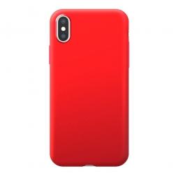 Силиконовый защитный чехол Monarch для Iphone X/Xs (Красный)