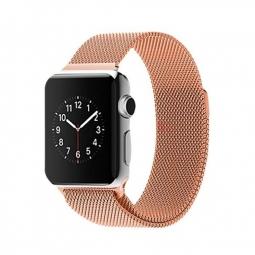 Металлический ремешок Milanese loop 42мм\ 44мм для Apple кремовый
