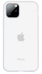 Силиконовый чехол Baseus для Iphone 11 Pro Max, Jelly Liquid Silica Gel, WIAPIPH65S-GD02 белый