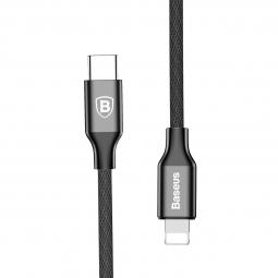 Кабель BASEUS USB Type-C/Lightning черный BASEUS