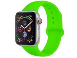Силиконовый ремешок для Apple Watch 44/42 mm зеленый