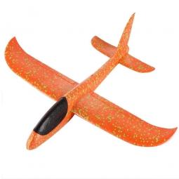 Самолет-планер из пенопласта метательный (большой) Оранжевый