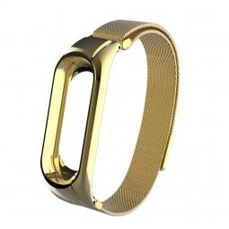 Металлический Миланский ремешок для Xiaomi mi band 3 золотой