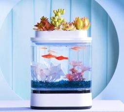 Аквариум Xiaomi Geometry Mini Lazy Fish Tank USB