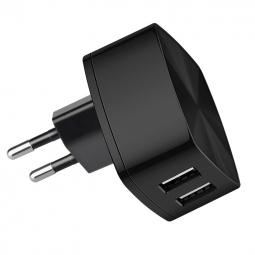 Сетевое зарядное устройство 2xUSB Hoco C26A - Черное