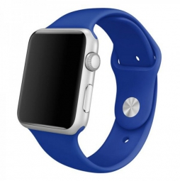 Силиконовый ремешок для Apple Watch 44/42 mm синий
