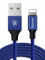 Кабель Baseus Yiven Cable For Apple 2A, 1.2м синий