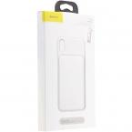 Чехол-аккумулятор Baseus Liquid Silica Gel Power Bank Case 3300 mAh для Apple iPhone XS / X белый (GD4089)