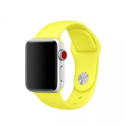 Силиконовый ремешок для Apple Watch 44/42 mm, желтый