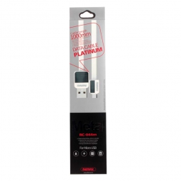 Кабель Remax Platinum Metal RC-044i for micro USB 1м white