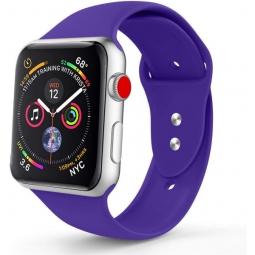 Силиконовый ремешок для Apple Watch 40/38mm, фиолетовый