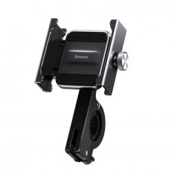 Держатель для телефона на велосипед, мопед, мотоцикл Baseus Knight Metal Handlebar - черный (CRJBZ-01)