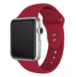 Силиконовый ремешок для Apple Watch 44/42 mm, красный