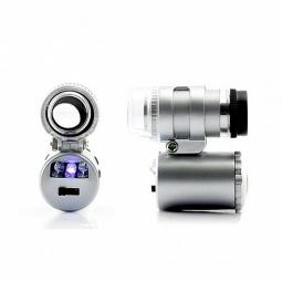Мини-микроскоп 60x с LED подсветкой и ультрафиолетом