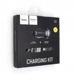 Автомобильное зарядное устройство HOCO Z1 lightning (BLACK)