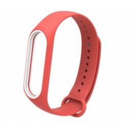 Сменный Ремешок для Xiaomi Mi Band 3 (красный-белый)