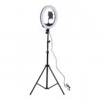 Светодиодная кольцевая Led лампа (селфи лампа ) 20см со штативом