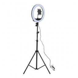 Светодиодная кольцевая Led лампа (селфи лампа ) 33см со штативом