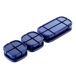 Держатель для проводов Baseus Cross Peas Cable Clip Blue (Синий)