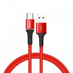 Кабель Baseus halo data cable USB For Type-C 3A 1 M Красный