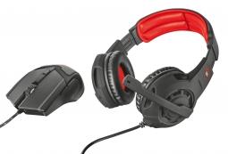 Trust GXT 784, Black Red игровая мышь + гарнитура