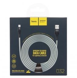 Кабель USB Hoco U32 Lightning для iPhone X/ 8/ 7 Plus/ 6S/ 5S, 1.2м, черный