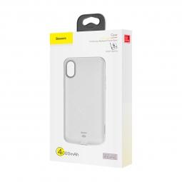 Чехол-аккумулятор для iPhone X/Xs Baseus Continuous Backpack Power Bank 4000 мАч белый