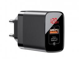 Сетевое зарядное устройство Baseus Mirror Lake PPS Digital Display Quick Charger чёрное (CCJMHC-A01)