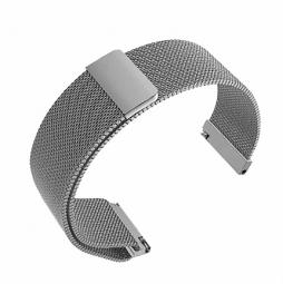 Сменный металлический ремешок для Amazfit Bip Silver (миланское плетение, серебристый)