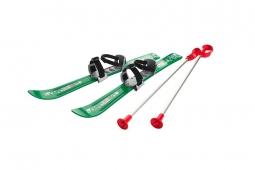 Детские лыжи с палками и креплениями Gismo Riders Baby Ski, 70 см (Чехия) (зеленый)