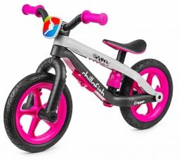 Легкий детский беговел в стиле трюкового Chillafish BMXie-RS (розовый)