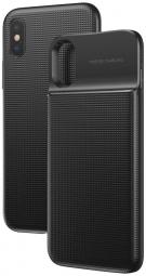 Чехол для iPhone X + беспроводной аккумулятор с QI зарядкой BASEUS 5000 мАч черный