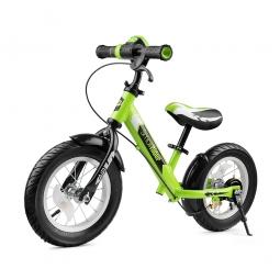 Беговел с ревом мотора, светодиодами и надувными колесами Small Rider Roadster 2 AIR Plus (зеленый)