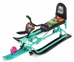 Детский снегокат-трансформер с колесиками и спинкой Small Rider Snow Comet 2 (аква)