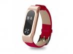 Ремешок кожаный для фитнес-браслета Xiaomi Mi Band 2 (Красный)