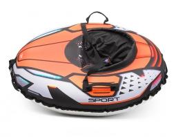 Надувные санки-тюбинг с сиденьем и ремнями Small Rider Asteroid Sport (оранжевый)