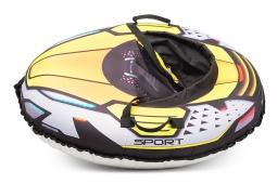 Надувные санки-тюбинг с сиденьем и ремнями Small Rider Asteroid Sport (зеленый)